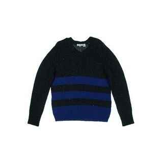 Inhabit Mens Donegal V-Neck Sweater Wool Blend Marled