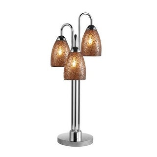 Woodbridge Lighting 13283CHR-M20AMB 3 Light Table Lamp from the Venezia Collecti
