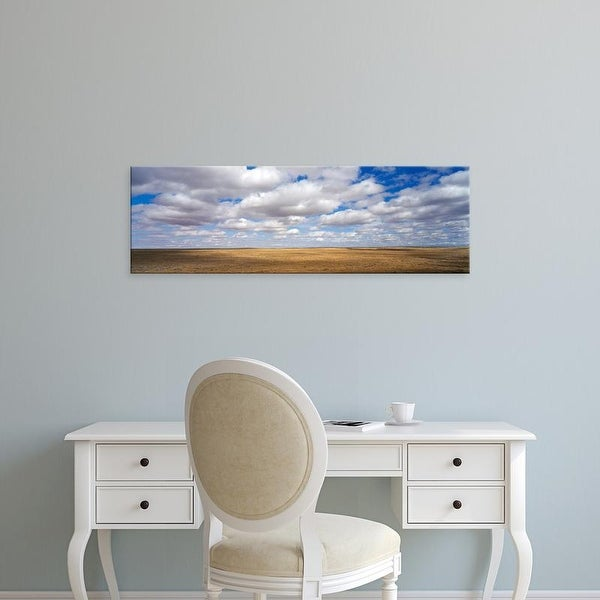 Easy Art Prints Panoramic Images's 'Clouds over open rangeland, Texas, USA' Premium Canvas Art