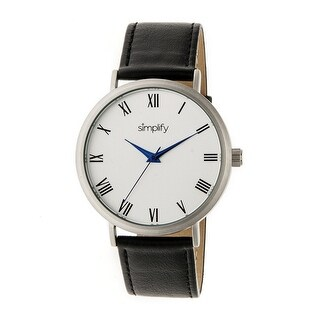 Simplify The 2900 Unisex Quartz Watch, Genuine Leather Band