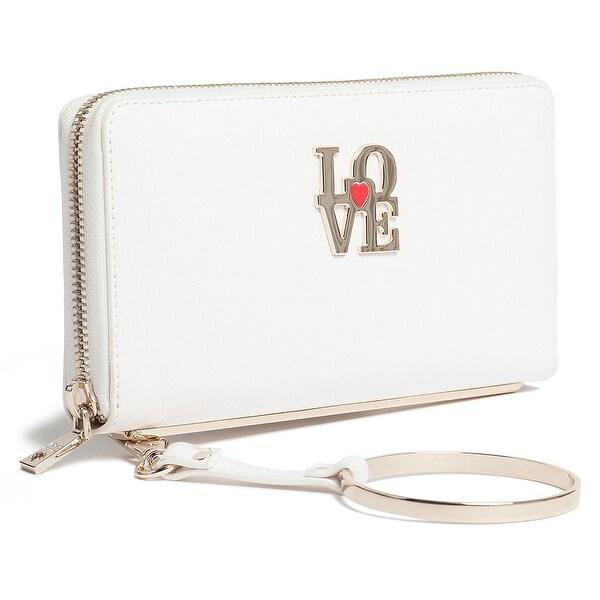Moschino JC5511 0100 White Zip Around Wallet - 7.5-4-1.2
