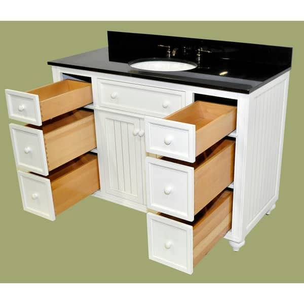 Sagehill Designs Cr4821dn Cottage Retreat 48 Bathroom Vanity Cabinet Only With 6 Drawers Overstock 16904734