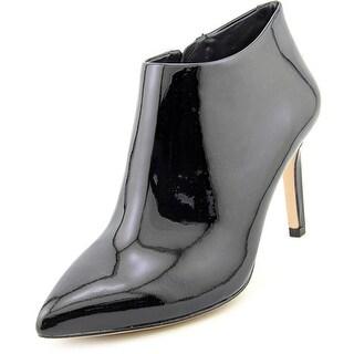 VC Signature Gordina Women Pointed Toe Patent Leather Black Bootie