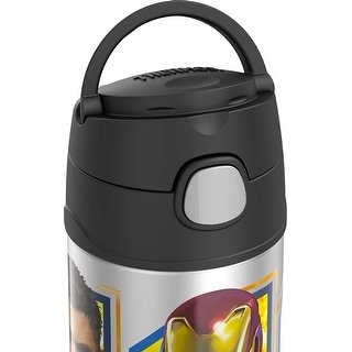 Thermos FUNtainer Avengers Infinity War Sports Bottle, Black, 12 Ounces