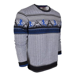 Robert Graham Men's HIT THE SLOPES All Wool Crewneck Sweater Shirt