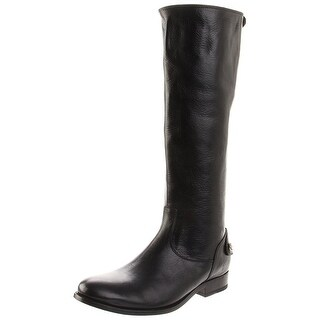FRYE Womens Melissa Leather Round Toe Knee High Fashion Boots
