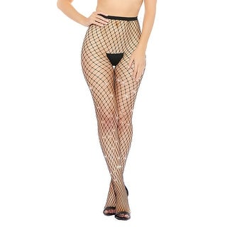 Glimmer Fishnet Pantyhose - Black - One Size Fits Most