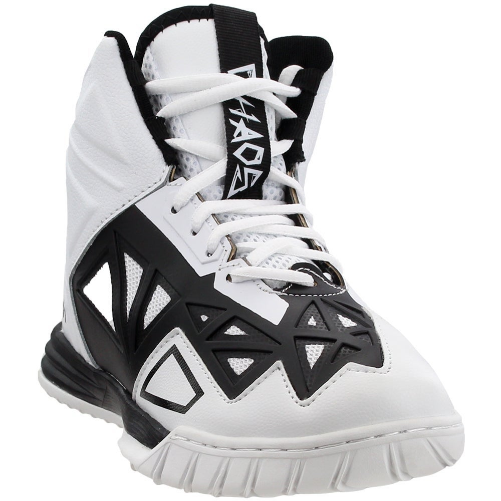 White AND1 Boys Chaos Basketball Casual Shoes 6
