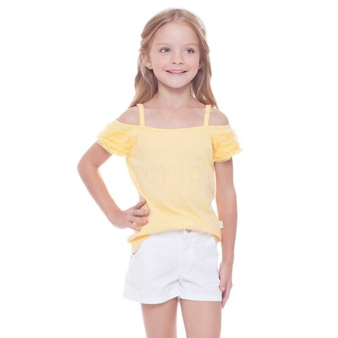Pulla Bulla Toddler and Little Girls' Cold Shoulder Top Shirt 2-8 Years