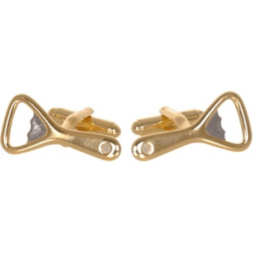 Gold Silver Bottle Opener Beer Cufflinks