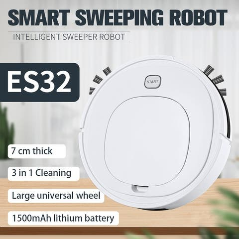 ES32 3 in 1 Smart Sweeping Robot Rechargeable Vacuum Intelligent Portable Cleaner Large Capacity Household Machine