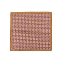Altea Men's Silk Orange Geometric Print Pocket Square - S