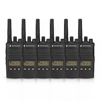 Motorola RMU2080D (6 Pack) Two Way Radio - Walkie Talkie
