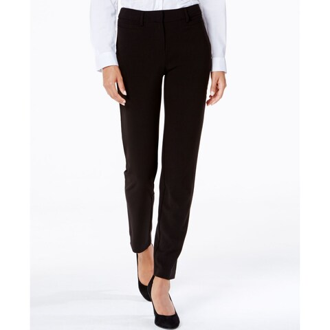 XOXO Black Size 7-8 Flat Front Hook And Eye Junior Dress Pants