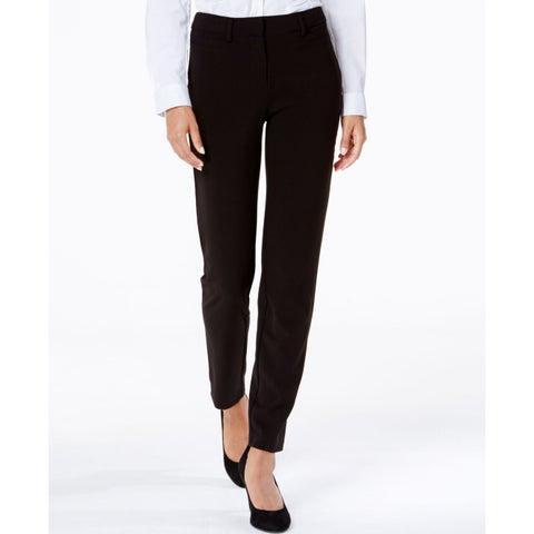 XOXO Deep Black Size 13/14 Juniors Flat Front Skinny Dress Pants