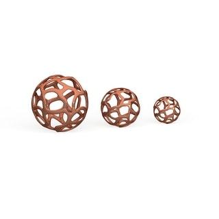 Link to Strick & Bolton Tatum 3-piece Copper-finish Aluminum Decor Ball Set Similar Items in Accent Pieces