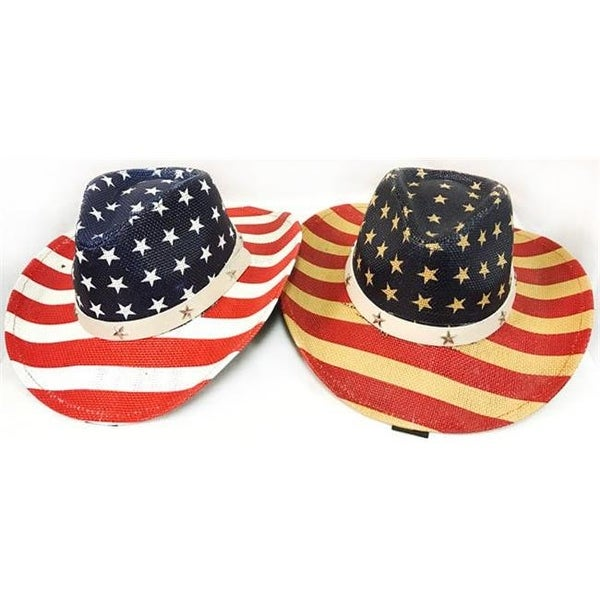 19e1a0ce822d5 Shop DDI 2266086 American Flag Stars   Stripes Cowboy Hat Case of 12 - Free  Shipping Today - Overstock - 22937153