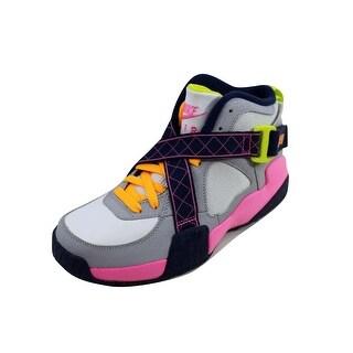 Nike Grade-School Air Raid White/Pink Glow-Wolf Grey-Midnight Navy 644882-101 Size 5Y