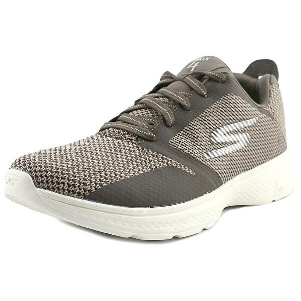 Skechers GoWalk 4 - Elect Men Round Toe Synthetic Walking Shoe