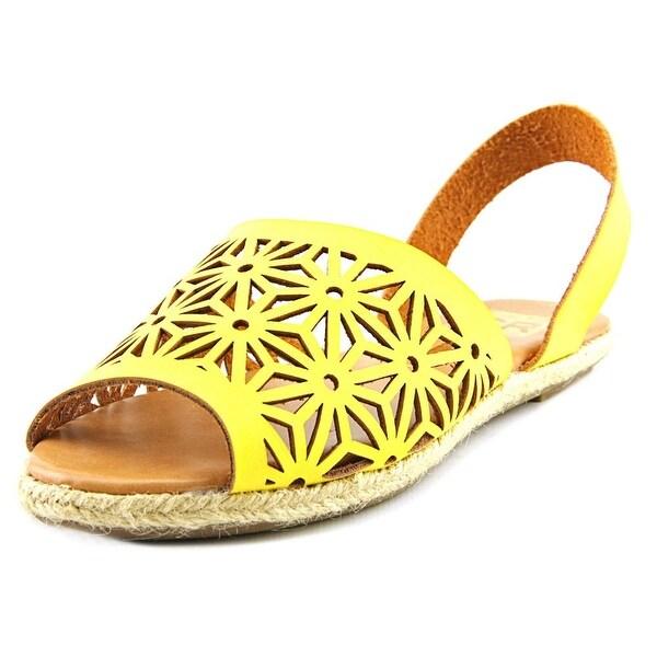 Cape Robbin Kama-TZ-1 Women Open-Toe Synthetic Yellow Slingback Sandal