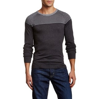 14th & Union NEW Gray Charcoal Mens Size XL Crewneck Striped Sweater