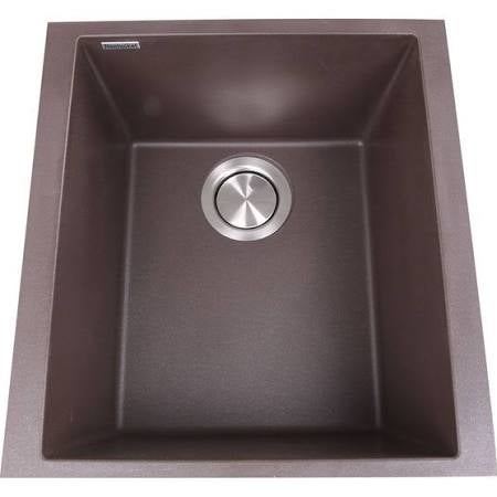 Nantucket Sinks Pr1716 Br 17 In Single Bowl Undermount Granite Composite Bar Prep