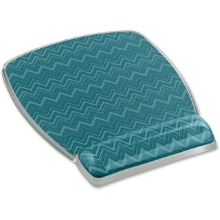 "3M MW308-GR 3M Fun Design Mouse Pad - Chevron Green - 6.8"" x 8.6"" Dimension - Gel, Rubber"
