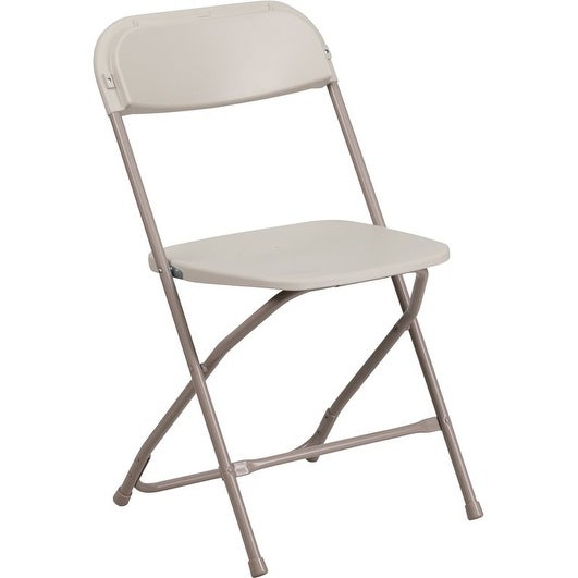 Beau Rivera Heavy Duty Plastic Folding Chair, Beige   Free Shipping On Orders  Over $45   Overstock.com   26305402