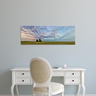 Easy Art Prints Panoramic Image 'Clouds over landscape, Prairie Ridge Natural Area, Marion, Illinois' Canvas Art