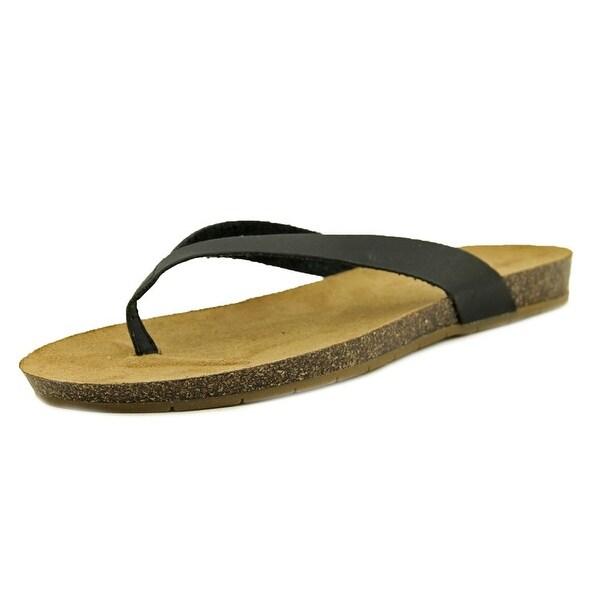 Esprit Lee-B Women Open Toe Synthetic Black Flip Flop Sandal