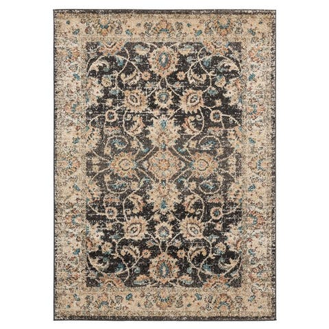 Porch & Den Stile Distressed Oriental Pattern Area Rug