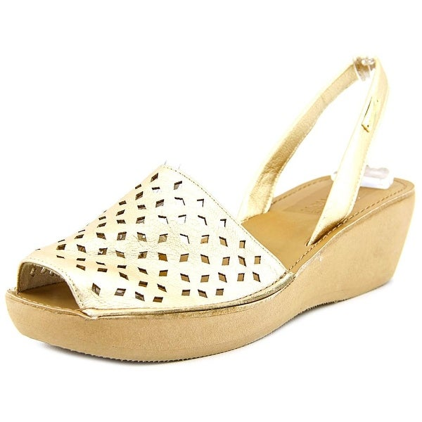 Kenneth Cole Reaction Fine Glass 2 Women  Synthetic Gold Slingback Sandal
