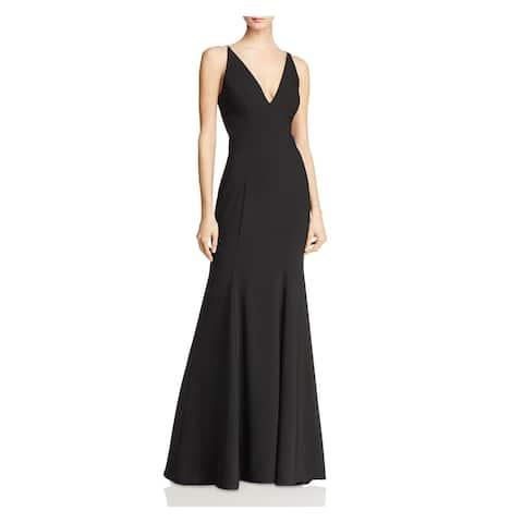 AQUA Black Sleeveless Full-Length Dress 0