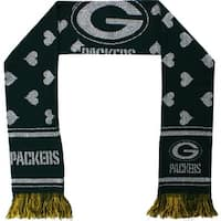 Green Bay Packers Glitter Heart Scarf