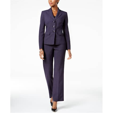 Le Suit Womens Woven Dress Pants, purple, 10