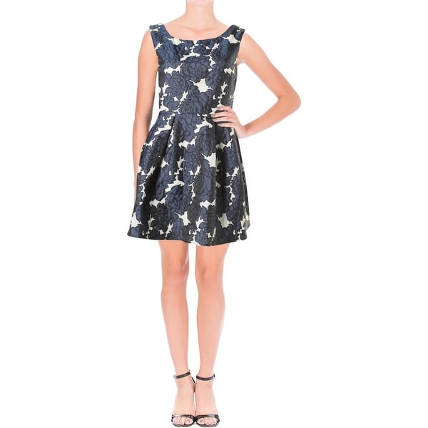 Lucy Paris Womens Party Dress Pleated Brocade