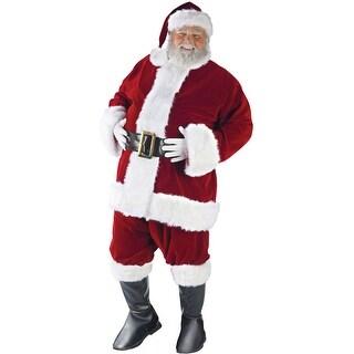 Fun World Ultra Velvet Santa Suit Adult Costume - Red - Standard