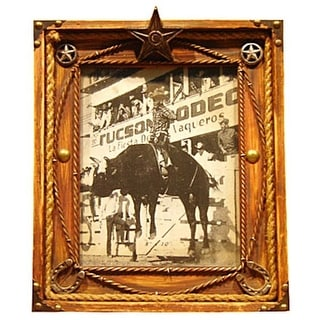 Gift Corral Western Frame Photo Memory Star 8x10 Brown 87-1208
