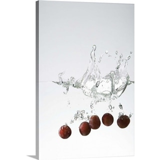 """Grapes in water"" Canvas Wall Art"