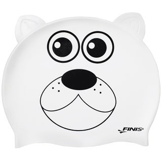 FINIS Youth Animal Head Swim Cap - Polar Bear