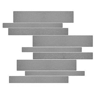 Miseno MT-G1PURE Horizontal Mosaic Wall Tile (10.92 SF / Carton) - Grey