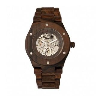 Earth Wood Grand Mesa Unisex Automatic Watch, Wood Band, Luminous Hands
