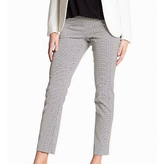Theory NEW Blue Ink White Printed Women's Size 6 Ankle Dress Pants
