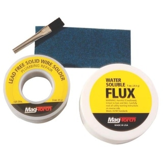 Mag-Torch MT 350 WF Solid Wire Solder and Water Soluble Paste Flux Kit