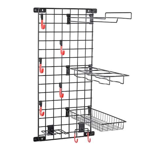 Mythinglogic Sports Equipment Storage System, Wall Mount Garage Storage Shelves