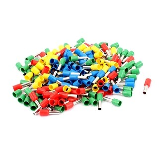 200Pcs E4009 12AWG Plastic Tube Insulated Cable Wire Ends Terminals
