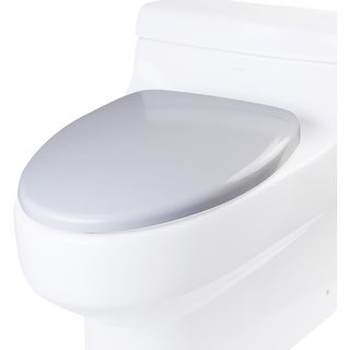 Eago R-352SEAT Elongated Closed-Front Toilet Seat with Soft Close Hinges - White - N/A