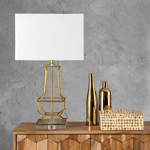 "nuLOOM Hayward 27"" Modern Gold Table Lamp"