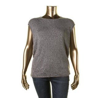Calvin Klein Womens Marled Jewel Tank Top Sweater