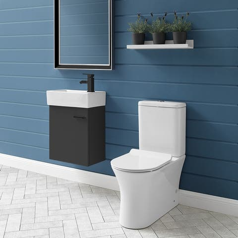 Calice Two Piece Elongated Rear Outlet Toilet Dual Flush .8/1.28 gpf